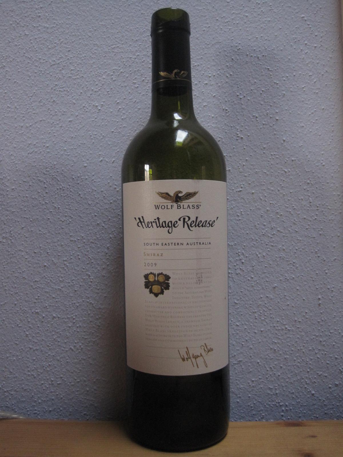 """Aldi-Wein im Kurz-Check – """"Heritage Release"""" Shiraz, Wolf Blass, Australien"""