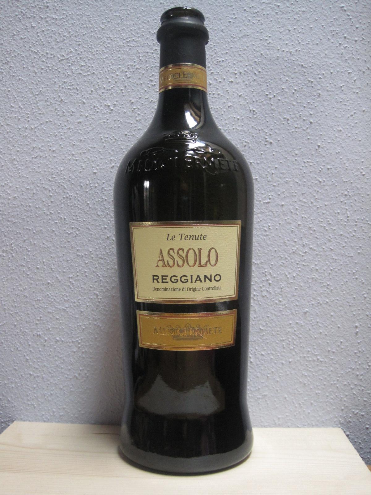 """Lambrusco Wein im Kurzcheck – """"ASSOLO REGGIANO"""" Lambrusco, Medici Ermete, Italien"""
