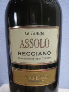 "Lambrusco Wein ""Assolo Reggiano"" von Medici Ermete"