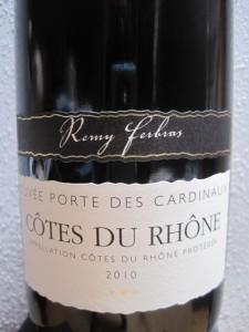 Cotes du Rhone - Porte des Cardinaux